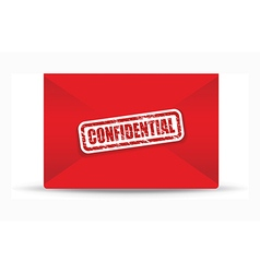 Confidential red closed envelope vector