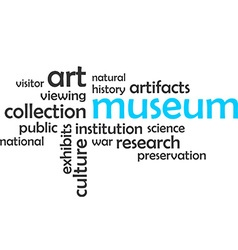 Word cloud museum vector