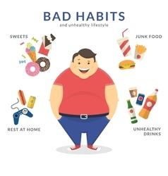 Happy fat man vector image