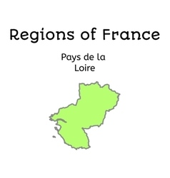 France administrative map of pays de la loire vector