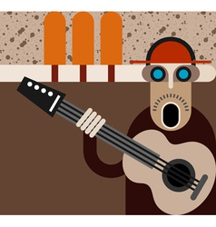 musician vector image