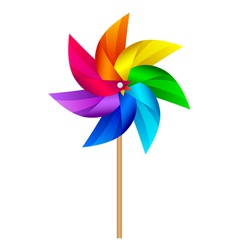 Windmill toy vector image