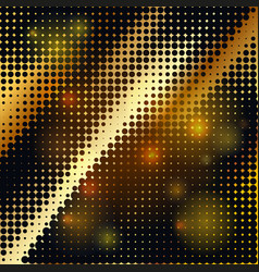 Abstract geometric graphic design gold halftone vector