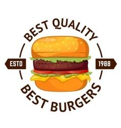 Best burgers Hamburger vector image