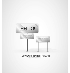 billboard background vector image