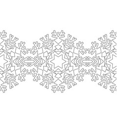 black and white silhouette of snowflakes lace vector image vector image