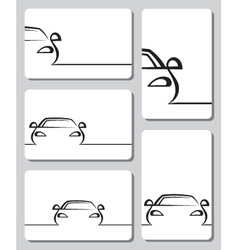 cards with cars vector image