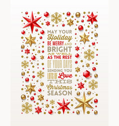 christmas greeting design vector image vector image