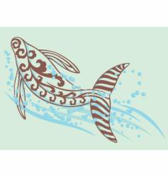 dancing whale vector image vector image