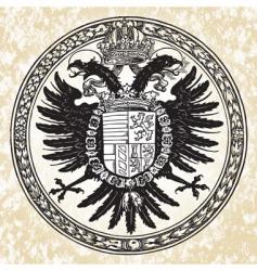 eagle ornate seal vector image