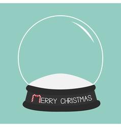 Empty crystal ball template merry christmas card vector