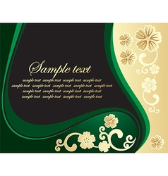 Floral Backdrop with Text Space vector image