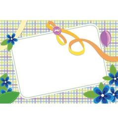 floral invitation frame vector image vector image