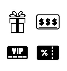 gift cards simple related icons vector image vector image
