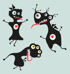 Happy monsters - set 13 vector