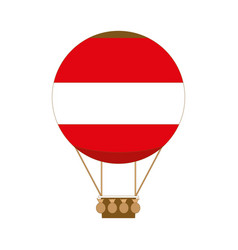 hot air balloon app icon in flat style vector image vector image