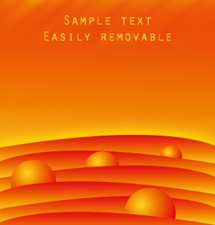 hot fiery background template vector image