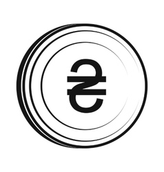 Hryvnia sign icon simple style vector image vector image