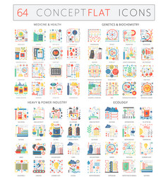 Infographics concept icons of medicine health vector