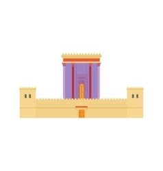 Jerusalem herods temple flat vector