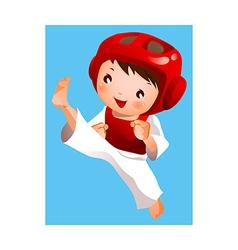 kick of martial artist vector image vector image