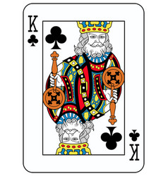 king of clubs french version vector image vector image