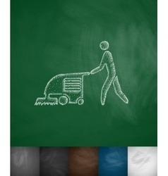 machine for cleaning floors icon vector image