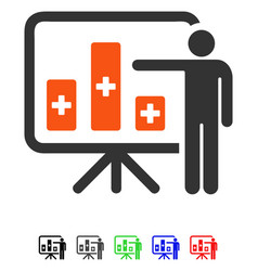 Medical public report flat icon vector