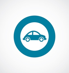 Mini car icon bold blue circle border vector