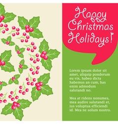 Mistletoe card vector