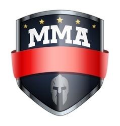 Mma fights shield badge vector