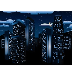 Night cityscape background vector