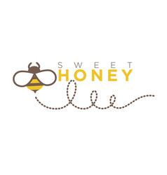 organic sweet honey logo design in flat style vector image vector image