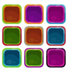 Rounded square app icon frames vector image vector image