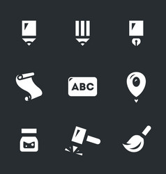 set of writing tools icons vector image vector image