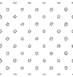 Simple seamless pattern with stars vector image vector image