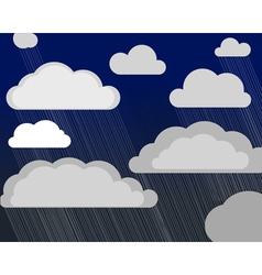 Storm clouds vector image
