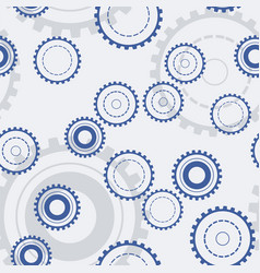 technology gears seamless pattern mechanical vector image