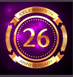 Twenty six years anniversary celebration with vector