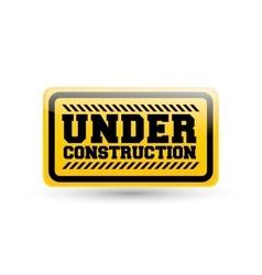 Under construction sign design vector