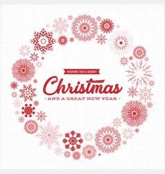 vintage merry christmas postcard vector image vector image