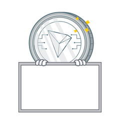 With board tron coin character cartoon vector