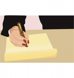writing vector image vector image