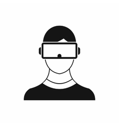 Virtual 3d reality goggles icon simple style vector