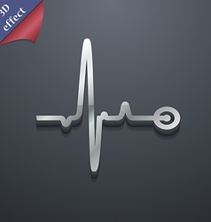 Heartbeat icon symbol 3d style trendy modern vector