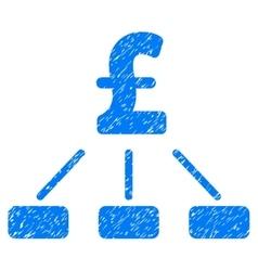 Pound hierarchy grainy texture icon vector