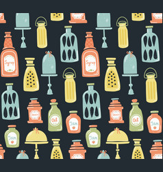 Jars pattern vector