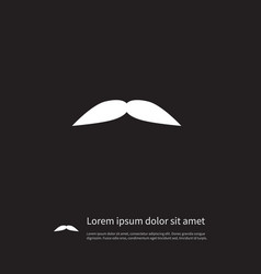 Isolated goatee icon grooming element can vector