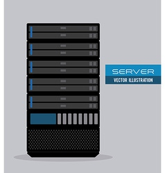 server design vector image