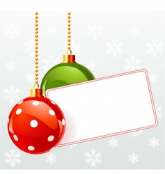blank label with Christmas decoration vector image